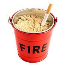 Пепельница в виде ведра с песком Suck UK Mini Fire Bucket