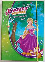 Папка для труда на резинке А4 Princess (картон)