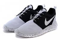 "Кроссовки Nike Roshe Run Custom ID ""White Black"" (Копия ААА+)"