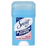 Кремовий дезодорант Secret key Platinum Power Delicat 40 ml