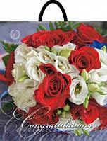 Пакет петля 40*42 Букет роз