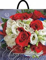 Пакет пласт руч 40*42 Букет роз