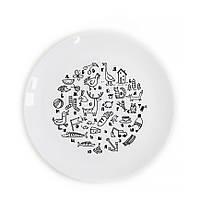 """Детская сувенирная тарелка """"Алфавит"""""""