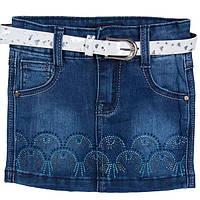 Юбка джинсовая для девочек украшенная стразами