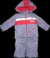 Детский зимний комбинезон (штаны на шлейках и куртка) на флисе и овчине, р. 86, 92, 98, 104