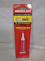 Фиксатор резьбы красный ABRO TL-371 6мл, фото 1
