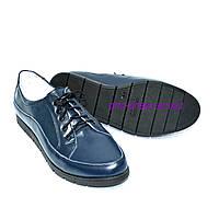 """Туфли женские кожаные на шнуровке. ТМ """"Maestro"""", фото 1"""