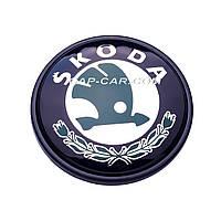 Колпачки заглушки для литых дисков  Skoda черный 56мм