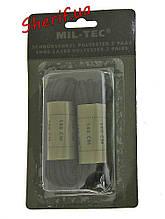 Шнурки черные 140см 2 пары,  MIL-TEK  Black 12912202