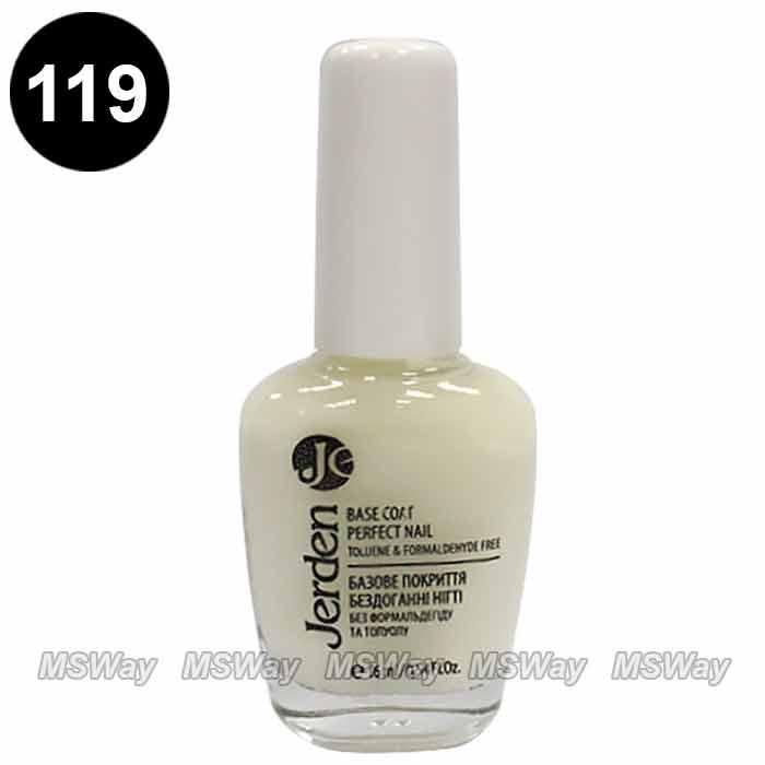 """Jerden - Лак для ногтей №119 Базовое покрытие """"Идеальные ногти"""" Base Coat Perfect Nail 16мл"""