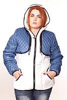 Демисезонная куртка-жилетка женская большого размера