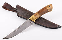 Нож охотничий ручной работы GW элитный, разделочный, кожаный чехол в комплекте + эксклюзивные фото, охотничий