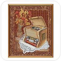 "Набор для вышивания нитками ""Старый патефон"""