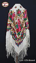 Настоящий белый платок шерстяной с люрексом , фото 3