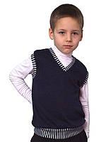 Жилет для мальчика трикотажный  М-966-1  рост 122-152