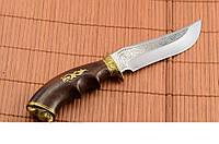 Нож для охотника Кабан, сделано в Украине ручная работа, кожаный чехол и паспорт в комплекте, охотничий нож,