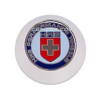 Колпачки заглушки для литых дисков HRE белый с хромом 68мм
