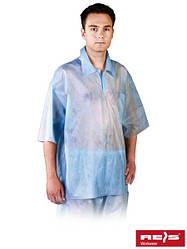 Блуза рабочая для косметических работ синяя REIS Польша (спецодежда медицинская для лабораторий) BFI N
