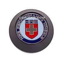 Ковпачки заглушки для литих дисків HRE чорний з хромом 68мм