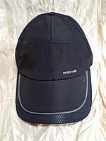 Бейсболка черная из плащевки с элементами сетки