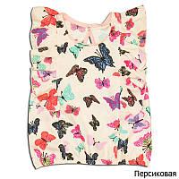 """Детская блуза для девочек """"ЦВЕТНЫЕ БАБОЧКИ"""""""