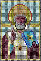 Схема для вышивания бисером икона Св.Николай Чудотворец КМИ 5003