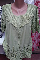 Ажурная блуза из летней ткани