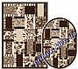 """Безворсовый ковер-рогожка """"Геометрическая абстракция"""" - цвет - коричневый, фото 4"""