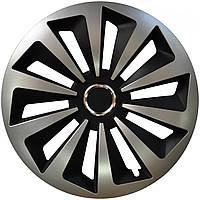 Колпаки на авто Jestic Fox Ring Mix Black Silver R13 (к-кт 4 шт.)
