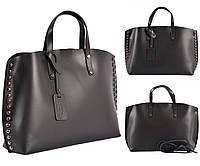 Черная кожаная сумка Virginia Conti ART8234