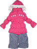 Детский зимний комбинезон р. 104 (штаны на шлейках и куртка) на овчине 1300