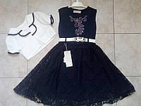 Нарядное кружевное  платье + болеро для девочек 6-10  лет Турция