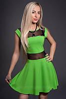 Яркое нарядное короткое летнее молодёжное платье