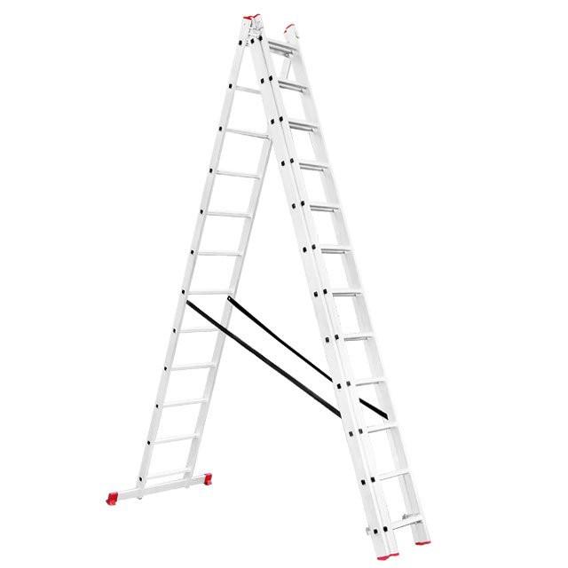 Лестница алюминиевая универсальная INTERTOOL LT-0312