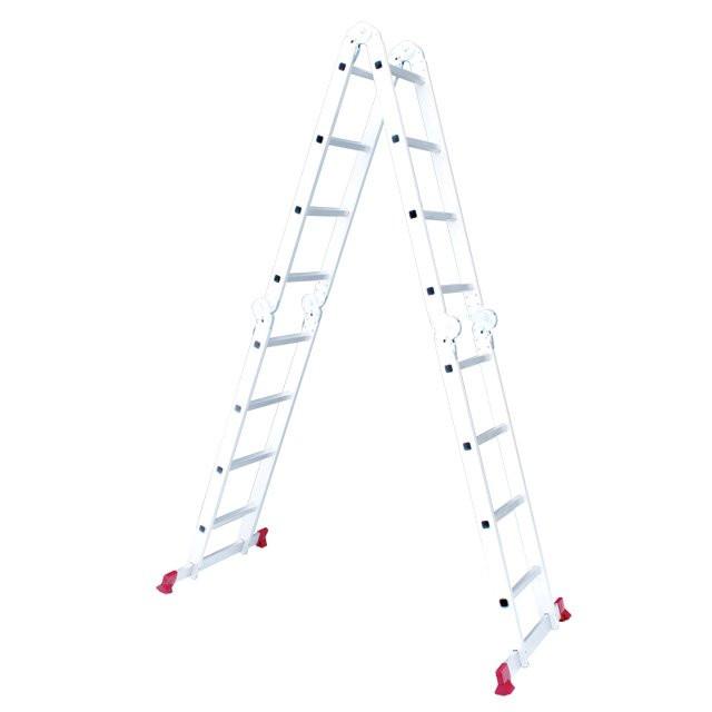 Лестница алюминиевая INTERTOOL LT-0029 мультифункциональная трансформер