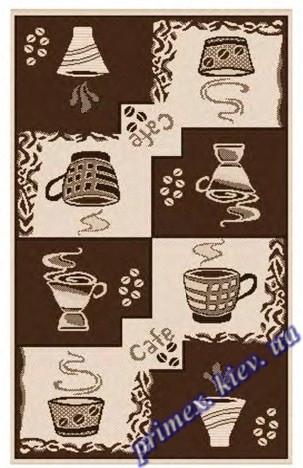 """Безворсовый ковер-рогожка """"Чашечка кофе"""" - цвет коричневый"""