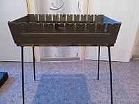 Мангал-чемодан раскладной на 6 шампуров 2 мм