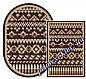 """Безворсовый ковер-рогожка """"Геометрические фигуры"""" - цвет коричневый, фото 4"""