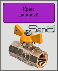 """Кран кульовий для газу 1/2"""" ВВ SANDI PLUS (метелик)"""