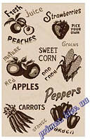 """Безворсовый ковер-рогожка """"Овощи"""" - цвет бежевый"""
