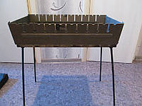 Мангал-чемодан сборной на 12 шампуров