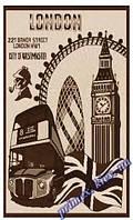 """Безворсовый ковер-рогожка """"Лондон"""" - цвет бежевый"""