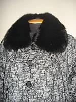 Пальто женское большого размера. 15 мрамор