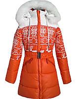 Куртка зимняя удлиненная для девочки. LH-19-3