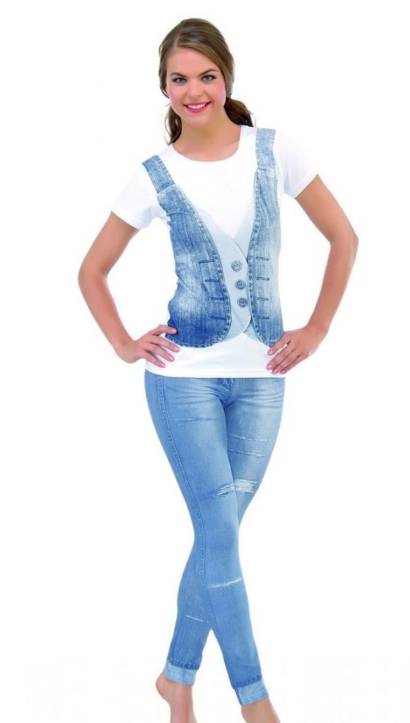 Костюм женский с лосинами под джинс