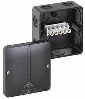 Розподільча коробка, вуличне встановлення, чорна з клемою Abox-i 040 - 4²/sw