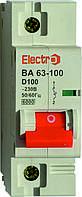 Автоматический выключатель ВА 63-100 6kA 80A 1P D Electro
