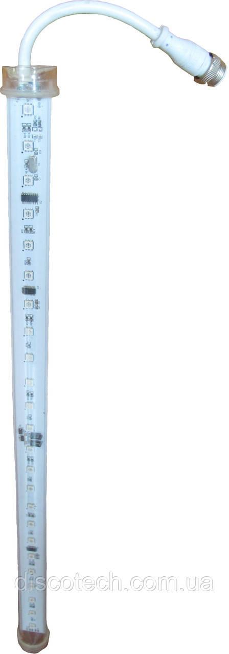 DMX LED Tube WL-3D-08-500-12V-IP65 Длина 0,5м, управл DMX512, Кол-во LED 48шт smd RGB 5050,8pixel12W