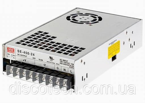 Блок питания 24V/450W 18.8A IP20 SE-450-24 Mean Well