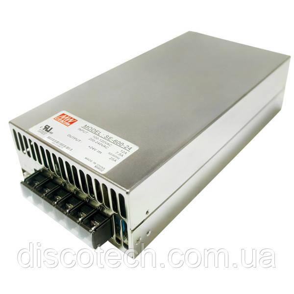 Блок питания 24V/600W 25A IP20 SE-600-24 Mean Well